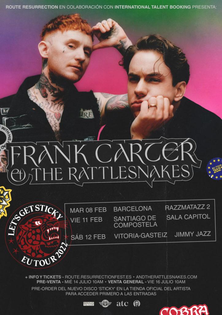 "Frank Carter & The Rattlesnakes. [""End of suffering""] (2019) - Página 13 Frank-Carter-gira-2022-724x1024"